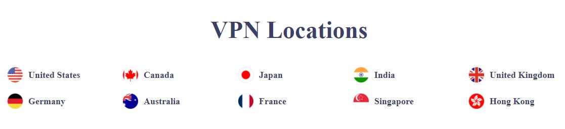 VPN locations